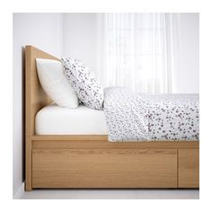 MALM High bed frame/2 storage boxes IKEA The 2 large drawers on casters give you an extra storage space under the bed.