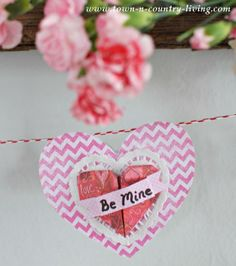 Try this Valentine's Day craft with your little ones to decorate your house for the holiday.