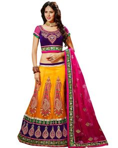 #LehengaCholi Look stunningly beautiful on that special occasion. Find a wide range of beautiful Lehngas on Ethnic Station.