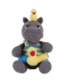 Go Handmade Helmut the Hippo amigurumi crochet kit