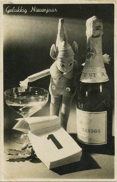 Vintage greetings cards - Happy New Year - Gelukkig Nieuwjaar