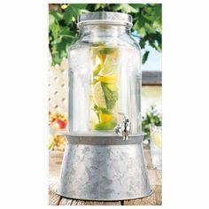 nice Home Essentials 1892 Del Sol 1.5 Gallon Infuser Jug On Galvanized Base,  #HomeEssentialsJuicers&Blenders