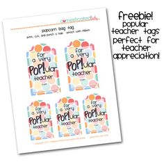 Couple of teacher appreciation printables
