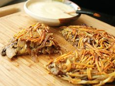 | VEGAN | Crispy Potato, Onion, and Mushroom Rösti