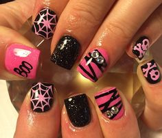 Halloween is right around the corner so you need to make sure you have your nails done to perfection to celebrate a fun holiday. We have found some of the best Halloween nail art designs for 2018 and would love to share them with you. Halloween Nail Designs, Halloween Nail Art, Spooky Halloween, Halloween Party, Cute Halloween Nails, Pink Halloween, Love Nails, Pretty Nails, Gorgeous Nails