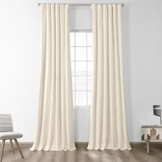 Shop for Exclusive Fabrics Solid Cotton True Blackout Curtain Panel. Get free delivery On EVERYTHING* Overstock - Your Online Home Decor Outlet Store! Curtains 1 Panel, Rod Pocket Curtains, Drapery Panels, Blackout Curtains, Window Curtains, Window Treatment Store, Window Treatments, Contemporary Decor, Home Decor Outlet