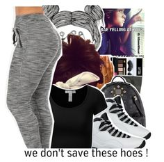 """""""we dont save these hoes!!!!"""" by trillest-shauney ❤ liked on Polyvore featuring art and DOPE"""