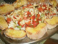 Cinco sentidos na cozinha: Tibornada de bacalhau e pimento