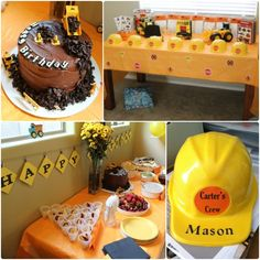 Construction truck birthday party ideas. DIY, inexpensive party on a budget.
