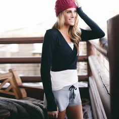 Ballet wrap Sport and Athletic Tops for Women |