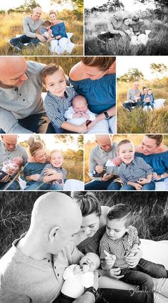 Beautiful outdoor newborn photography session in Sydney with golden light and cute older brother. Janelle Keys Photography.
