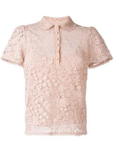 RED VALENTINO embroidered polo shirt. #redvalentino #cloth #shirt