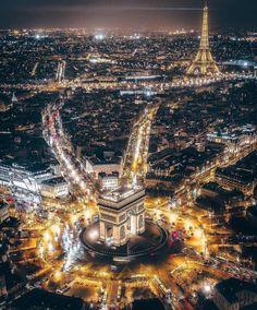 Aerial view ~ Paris, France Photo: Awesome Founders: - Best Places to Visit X Paris At Night, Paris Photography, Travel Photography, Photography Photos, Lifestyle Photography, Nature Photography, Paris France, Paris Paris, France Europe