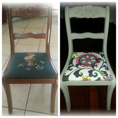 Before and after Annie Sloan chalk paint-Linen
