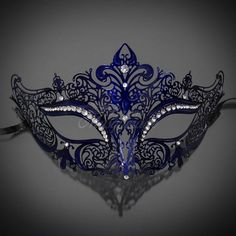 New Women Metal Mask Venetian Style Navy Blue Colorful Masquerade Mask Party * Hurry! Check out this great product : Home Decorative Accessories