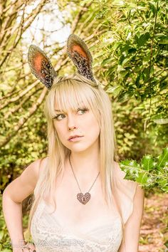 Fantasy Sculpted Rabbit Ear Headband by idolatre on Etsy, $65.00 #halloween #halloweencostume