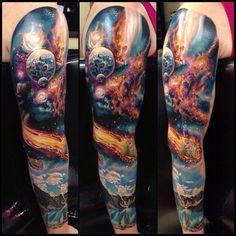 17 Space Tattoo Sleeve