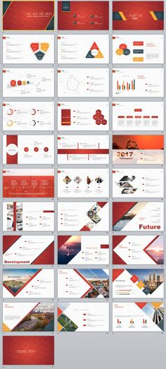 Red Business Purple Annual Report  Powerpoint Templates And