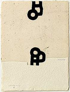 Eduardo Chillida (1024-2002) Anjana, 1989. Etching with aquatint and embossing, printed on Segundo Santos paper. Etching size: 29.5cm H x 22cm W. Edition of 66 copies.
