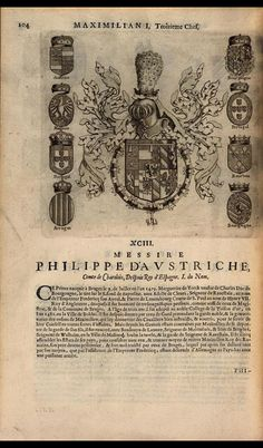 Chapter of the Order, 's-Hertogenbosch; Philip the Fair, Comte de Charolais Bruges, Prince, Jean Baptiste, 17th Century, Adele, Knights, Vintage World Maps, Weapons Guns, Coat Of Arms