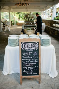 Take a look at 15 absolutely stunning buffet wedding menu ideas in the photos below and get ideas for your wedding! Wedding Buffet Menu Ideas Cheap — Wedding Ideas, Wedding Trends, and Wedding Galleries Image source Wedding Buffet Menu, Wedding Reception Food, Wedding Catering, Chalkboard Wedding, Cheap Wedding Food, Wedding Buffets, Wedding Buffet Tables, Food Ideas For Wedding, Picnic Table Wedding