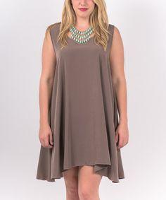 Gray Sidetail Dress - Plus #zulily #zulilyfinds