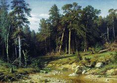 Сосновый бор. Мачтовый лес в Вятской губернии 1872 117х165. Иван Иванович Шишкин