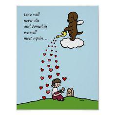 Chocolate Labrador Angel with Love Cartoon Print. Labrador artwork of Rainbow Bridge. Dog Quotes, Animal Quotes, I Love Dogs, Puppy Love, Miss My Dog, Pet Loss Grief, Amor Animal, Cartoon Posters, Black Labrador