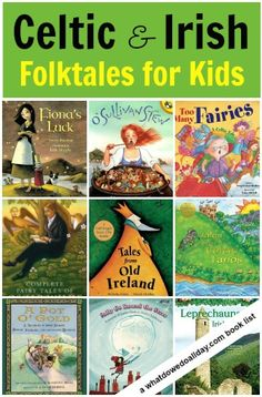 Celtic Mythology and Irish Legends books for kids.  Need to check these out!
