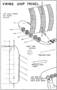 Make a model viking house