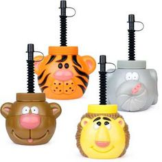 Zoo Animal Sipper Cup (each) - Boys Parties & Party Supplies