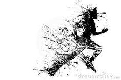 Image result for woman silhouette runner swirls