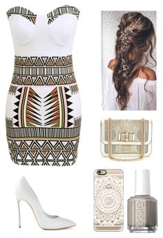 """""""Untitled #479"""" by france247 ❤ liked on Polyvore featuring Casadei, Casetify, Christian Louboutin and Essie"""