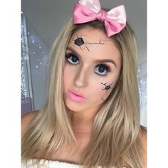 I did my own version of a cute broken doll!  I made it super easy and you don't need a special costume  the tutorial will be up on Friday as my final Halloween look of the year!  I'm kind of upset bc I have so much fun filming these hehe  #shaaanxo