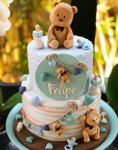 Cupcakes Decoration Ideas Baby Shower Teddy Bears Ideas For 2019 Baby Cakes, Baby Shower Cakes, Gateau Baby Shower, Idee Baby Shower, Fiesta Baby Shower, Baby Birthday Cakes, Baby Shower Desserts, Baby Shower Parties, Baby Shower Themes