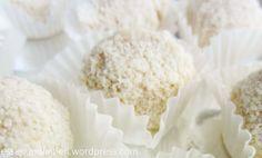 weiße Rumkugeln - ein Traum aus Schokolade und Löffelbiskuit