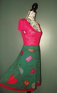 YUMI ON LINE: 101 IDEES  SKIRT  COEURS LIFE IS PEACEFUL  TL OU 4...