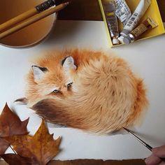 Fox Illustration, Christmas Illustration, Watercolor Illustration, Watercolor Fox, Watercolor Paintings, Watercolors, Fox Drawing, Fox Painting, Woodland Decor
