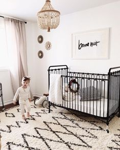 Eclectic monochrome nursery -See this Instagram photo by @bratt_decor • 443 likes