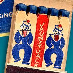 Jaunty Jack the Sailor matchbook — Somerville, Massachusetts
