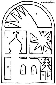 vystrihovanka-okno.gif (678×1024) Christmas Nativity, Christmas Crafts, Christmas Ornaments, Kirigami, Paper Cutting, Christmas Stencils, Wood Carving Patterns, Faux Stained Glass, Parchment Craft