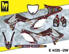 E 4135 - Honda CRf 2018 Moto-StyleMX - Dirt Bike Stickers, European manufacturer of premium graphic decal kits for motocross, Enduro, Supermoto, ATV Honda 250, Motos Honda, Mx Bikes, Bike Stickers, Dirtbikes, Motocross, String Bikinis, Decals, Graphics