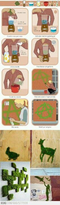 http://www.wikihow.com/Make-Moss-Graffiti