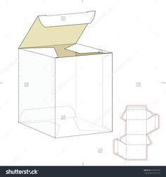 Empty Tuck Lock Sheer Box With Die Cut Template Stock Vector Illustration 337664534 : Shutterstock