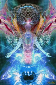 In touch with cosmic energy, illuminating the human light body. Heighten expression of creativity Sacred Geometry Art, Esoteric Art, Spirited Art, Visionary Art, Weird Art, Fractal Art, Fractal Images, Fractals, Faeries