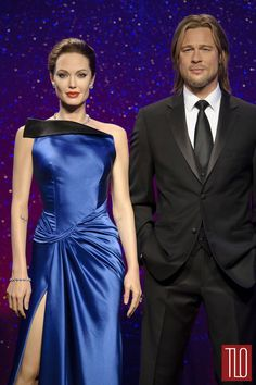 Angelina Jolie & Brad Pitt wax figures at Madame Tussauds London Brad Pitt And Angelina Jolie, Jolie Pitt, Le Jolie, Madame Tussauds, Nicole Kidman, London Attractions, Wax Museum, Famous Couples, London