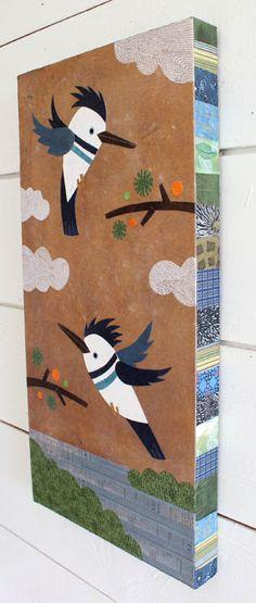 Kingfishers Flying by kateendle on Etsy, $295.00