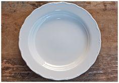 *Vintage White China - Balboa Charger Plate