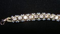 make your own tennis bracelet with cup chain and beads.