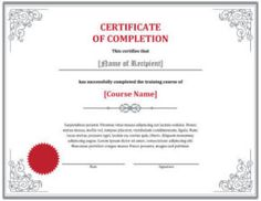 Course Completion Certificate (6888 downloads) - Free Certificate Template